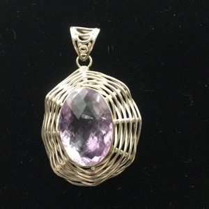 """Jewelry - 2"""" Sterling silver pendant"""